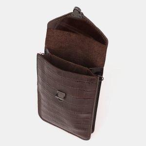 Стильный коричневый женский клатч ATS-3894 210672