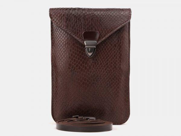 Вместительный коричневый женский клатч ATS-3895