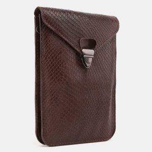 Вместительный коричневый женский клатч ATS-3895 210659