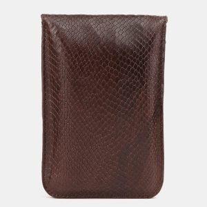 Вместительный коричневый женский клатч ATS-3895 210660