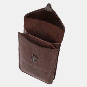 Вместительный коричневый женский клатч ATS-3895 210661