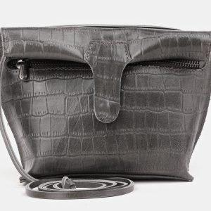 Вместительный серый женский клатч ATS-3892