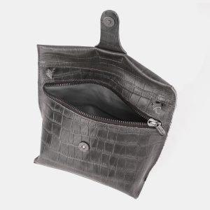 Функциональный серый женский клатч ATS-3892 210693