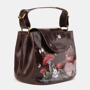 Деловая коричневая сумка с росписью ATS-3901 210639