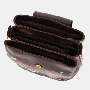 Деловая коричневая сумка с росписью ATS-3901 210641