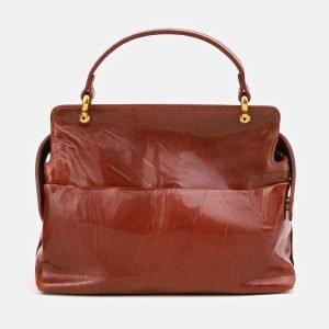 Функциональная светло-коричневая сумка с росписью ATS-3906 210615