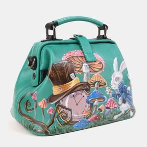 Неповторимая зеленая сумка с росписью ATS-3908 210604