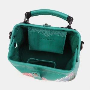 Неповторимая зеленая сумка с росписью ATS-3908 210606