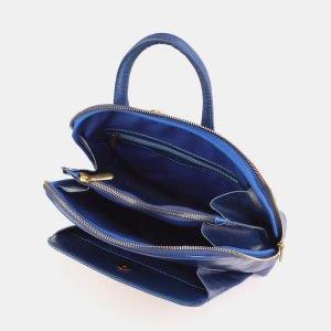 Модный голубовато-синий рюкзак с росписью ATS-3897 210651