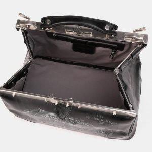 Стильный черный саквояж с росписью ATS-3900 210646
