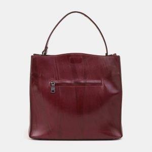 Удобная бордовая сумка с росписью ATS-3903 210630