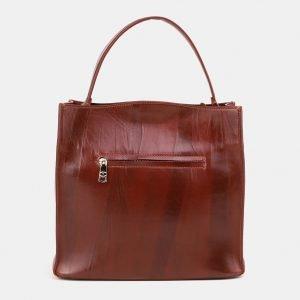 Стильная светло-коричневая сумка с росписью ATS-3902 210635