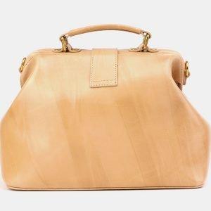 Модная бежевая сумка с росписью ATS-3905 210620