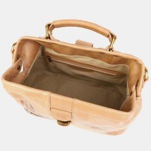 Модная бежевая сумка с росписью ATS-3905 210621