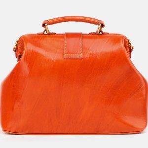 Вместительная оранжевая сумка с росписью ATS-3904 210625