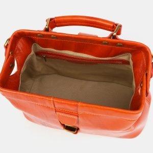 Вместительная оранжевая сумка с росписью ATS-3904 210626