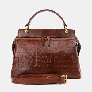 Деловая светло-коричневая женская сумка ATS-3912
