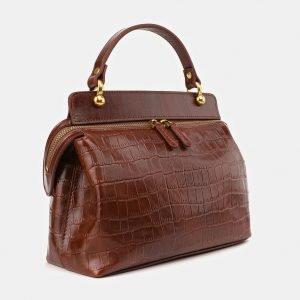 Удобная светло-коричневая женская сумка ATS-3912 210585