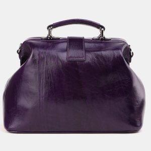 Солидная фиолетовая сумка с росписью ATS-3910 210595