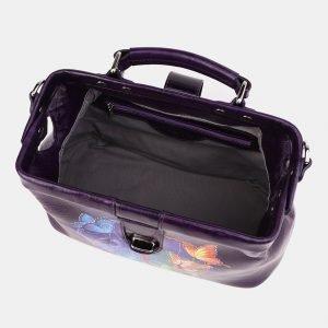Солидная фиолетовая сумка с росписью ATS-3910 210596
