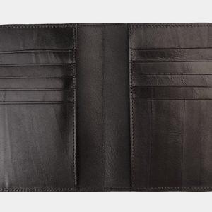 Кожаная черная обложка для паспорта ATS-1172 217000