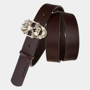 Солидный коричневый женский модельный ремень ATS-1648 216574