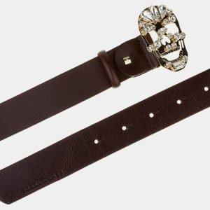 Стильный коричневый женский модельный ремень ATS-1648 216573