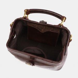 Солидная коричневая сумка с росписью ATS-3921 210545