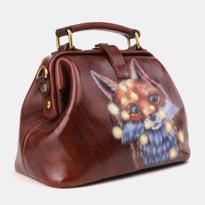 Неповторимая светло-коричневая сумка с росписью ATS-3920 210548