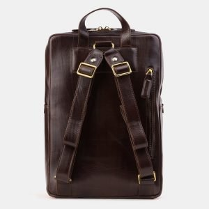 Модный коричневый рюкзак с росписью ATS-3919 210554