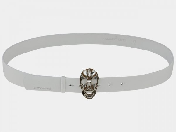 Уникальный белый женский модельный ремень ATS-1644