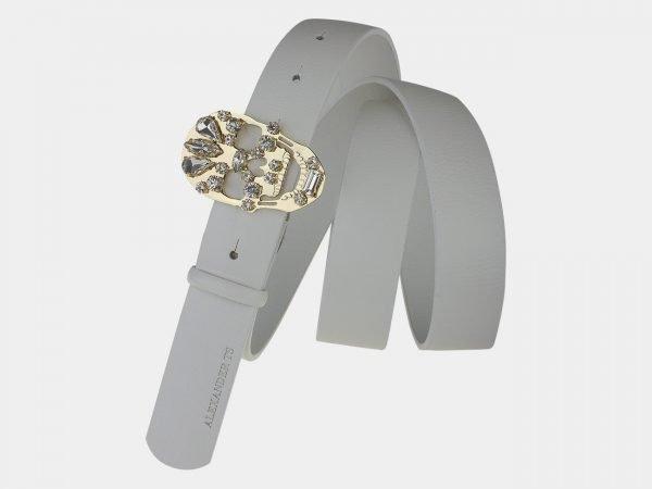Солидный белый женский модельный ремень ATS-1644