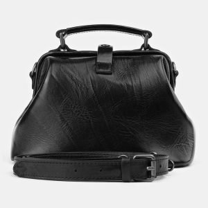 Вместительная черная женская сумка ATS-3917
