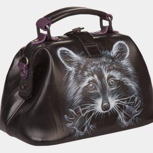 Удобная черная сумка с росписью ATS-1358 216802