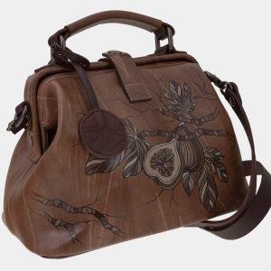 Вместительная бежевая сумка с росписью ATS-1655 216558
