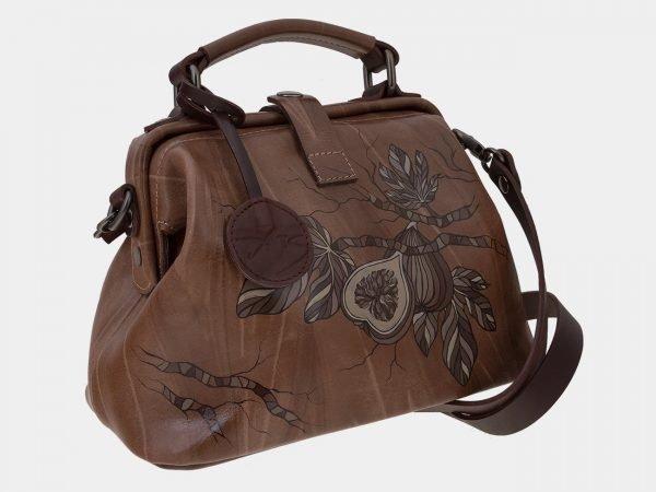 Деловая бежевая сумка с росписью ATS-1655