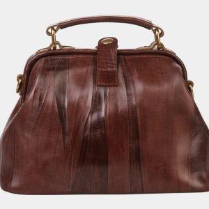 Функциональная коричневая сумка с росписью ATS-1361 216795