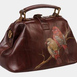 Функциональная коричневая сумка с росписью ATS-1361 216794
