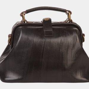 Солидная черная сумка с росписью ATS-1360 216799