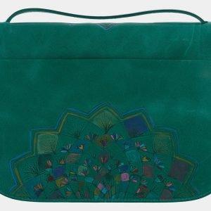 Неповторимый зеленый клатч с росписью ATS-1659 216544