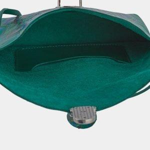 Неповторимый зеленый клатч с росписью ATS-1659 216545