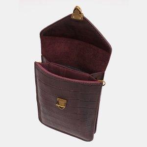 Уникальный бордовый женский клатч ATS-3928