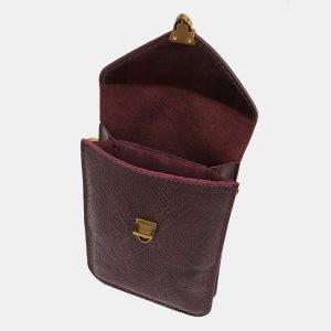 Неповторимый бордовый женский клатч ATS-3930 210502
