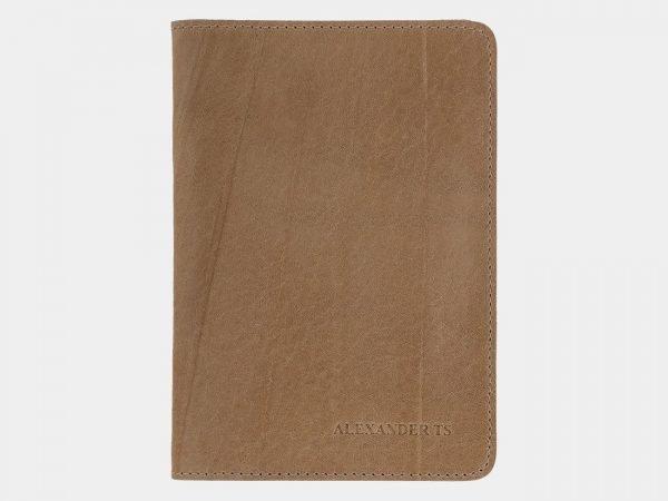 Стильная бежевая обложка для паспорта ATS-1489