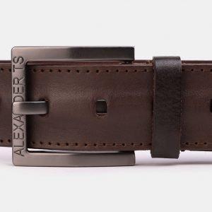 Кожаный коричневый мужской джинсовый ремень ATS-3944 210444