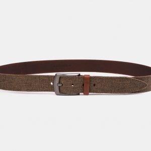 Кожаный светло-коричневый мужской джинсовый ремень ATS-3946