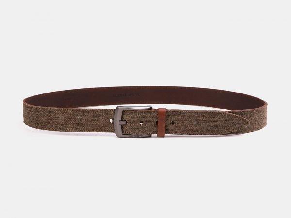Деловой светло-коричневый мужской джинсовый ремень ATS-3946