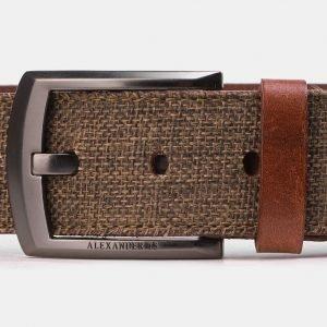 Деловой светло-коричневый мужской джинсовый ремень ATS-3946 210436