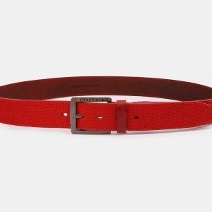 Неповторимый красный мужской джинсовый ремень ATS-3947