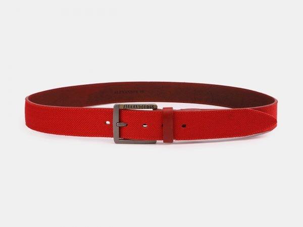 Стильный красный мужской джинсовый ремень ATS-3947